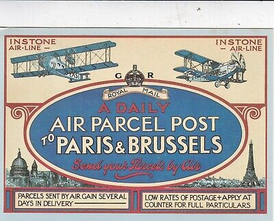 Instone Airline Poster 1921 Royal Mail Postcard FDI Special Cancel b VGC