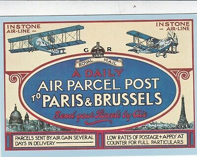 Instone Airline Poster 1921 Royal Mail Postcard unused VGC