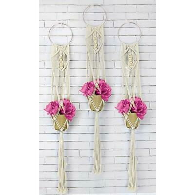 Birch Macrame Wall Hanging Kit - Three Times The Charm  / Diy Decorative Kit