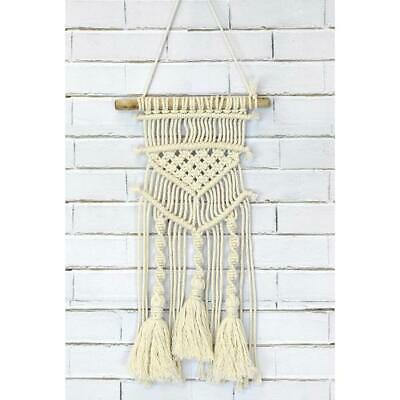 Birch Macrame Wall Hanging Kit - Tassels & Twists / Diy Decorative Knotting Kit