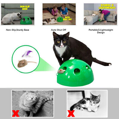 Cat Automatic Pop N' Play Interactive Motion Toy Mouse Fuuny Electronic Toy US