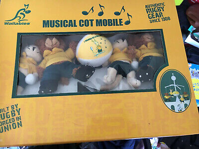 Wallabys Rugby Baby Musical Mobile