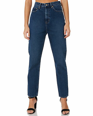 Lee Women's Womens High Moms Jean Cotton Fitted Blue 9