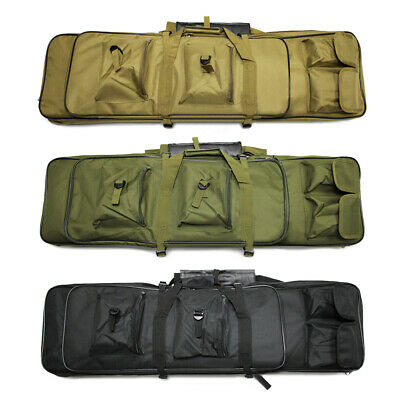 """39"""" Dual Tactical Double Padded Caarbine Rifle Gun Case Bag Hunting Backpack"""