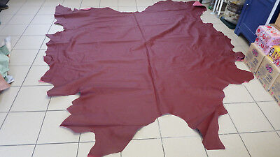Leather Hide Carmine Red Approx. 5,42 Qm (F95)