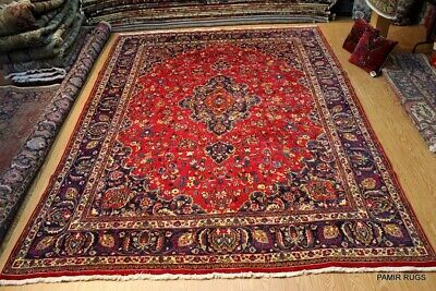 ON SALE Circa 1930's Antique Authentic HANDMADE Hand-knotted 10'X13' RUG