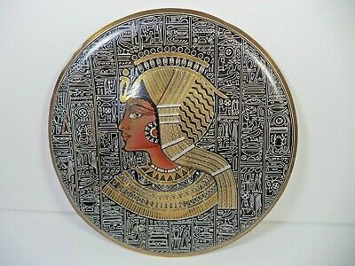 VINTAGE Antique Egypt Hand Made art HOME DECOR OLD ART DECOR 8.5  Egyptian BRASS