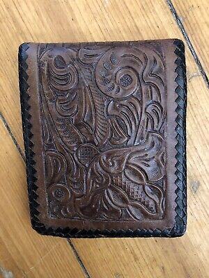 Retro Hand Tooled Leather Wallet