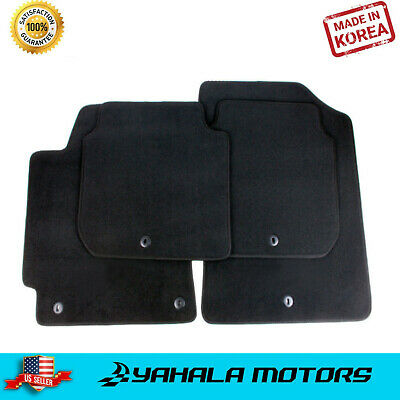 FRONT & REAR set of Carpeted Floor Mats for 2011-2016 Hyundai Elantra