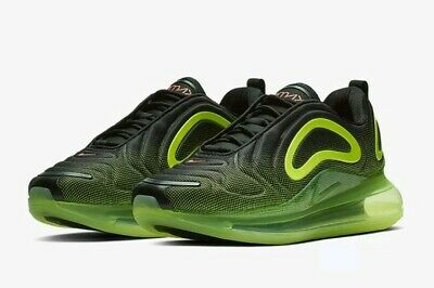 Nike air max 720 trainers in black and green