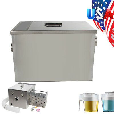USA Grease Trap Interceptor Set For Restaurant Kitchen Wastewater Removable A+++