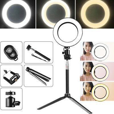 """8"""" LED SMD Ring Light Kit with Stand Dimmable 5500K for Makeup Phone Camera"""
