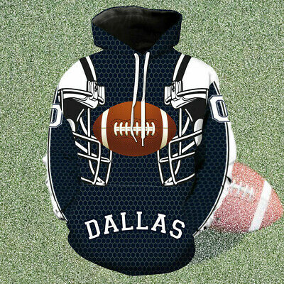 US Men's Dallas Cowboys Sport Hoodie Sweatshirt Jumper Jacket Hooded Coat Tops