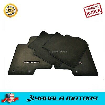 Gray Carpet Floor Mats 4 Pieces Carpeted for 2011-2014 Hyundai Sonata