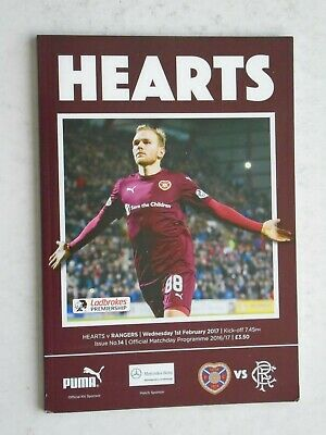 Hearts v Rangers 2016/17 SPL February