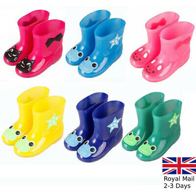 Boys Girls Kids Children Wellington Boots Wellies Rain Snow Boots Shoes Size