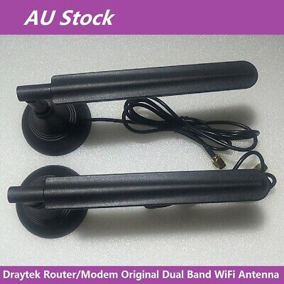 2pcs Draytek Original Dual Band Wireless WiFi Antenna For Router Magnetic Stand