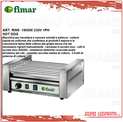 Hot Dog 1800W 230V 1PH Fimar RW8