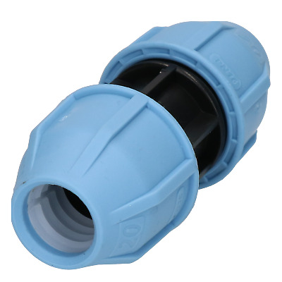20 x 20mm MDPE Straight Pipe Compression Coupling for Underground Systems PN16