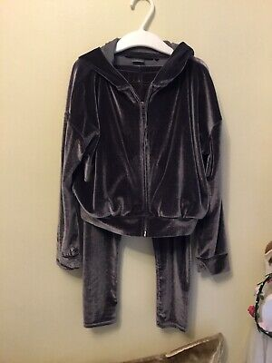 Girls Grey Velour Tracksuite. NEXT. Age 6. Worn.