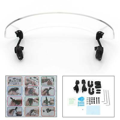 Motorcycle Universal Clip On Windshield Wind Screen Deflector Extension Spoiler