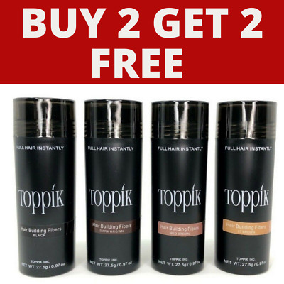 TOPPIK HAIR BUILDING FIBRES 27.5g - BUY & PAY FOR 2 AND RECEIVE 2 MORE FOR FREE