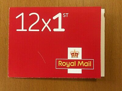 Royal Mail 1st Class Stamps. Booklet of 12