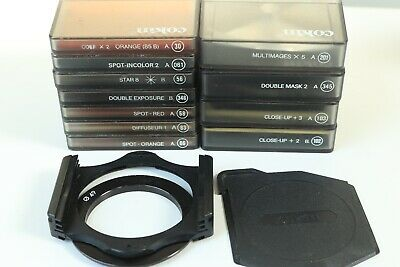 Cokin filters/effects+closeup lens+holder