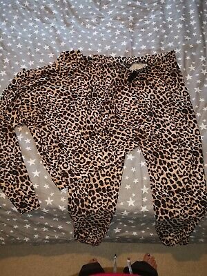 Animal Print New Look Maternity Pyjamas size M ~ super soft & comfy