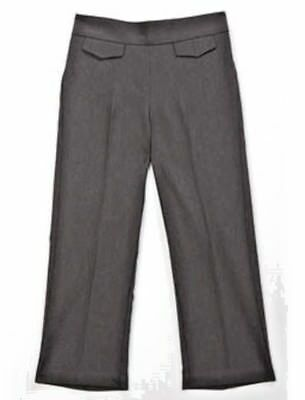 bnwt GIRLS SMART WOVEN TROUSERS COL: GREY - AGE 4/5 YEARS  (with tefflon) new