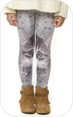 bnwt GIRLS AGE 4/5 YEARS SUBLIMATION CAT PRINT POLYESTER LEGGINGS MULTI GREY new