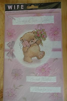 Large: To My Wife Special Wishes Just For You Birthday Card New & Sealed 27.5X18