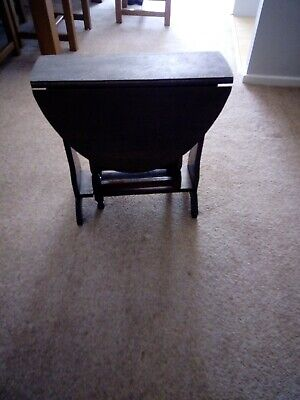Antique Gateleg Coffe Table Small Version Old