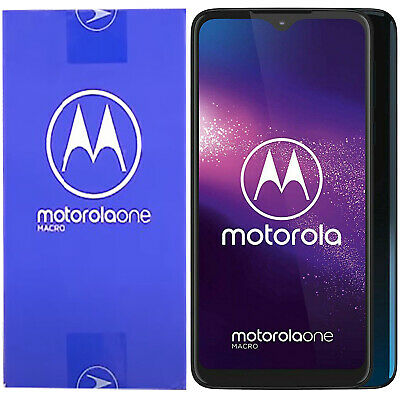 New Motorola One Macro Dual-SIM XT2016-1 Space Blue 64GB Factory Unlocked 4G GSM