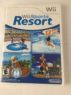 Wii Sports Resort (Nintendo Wii, 2009) COMPLETE CiB, TESTED & WORKING!