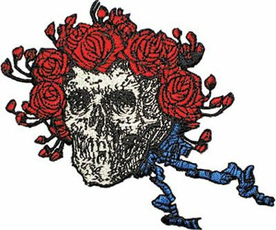 Grateful Dead - Skull & Roses - Embroidered Patch - Brand New - Music Band 1229