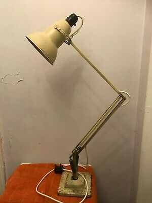 Vintage working cream HERBERT TERRY 1227 ANGLEPOISE pyramid/two step base lamp