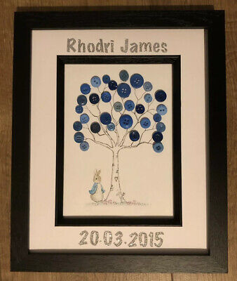 Peter Rabbit Baby Boy Child Birth Announcement Frame Gift Personalised