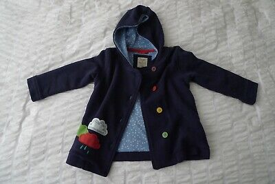 Frugi Cosy Button Up Jacket Navy New without tags Age 2-3 years