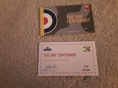 2018 Gb Royal Mail Raf Centenary Prestige Stamp Booklet Limited Edition