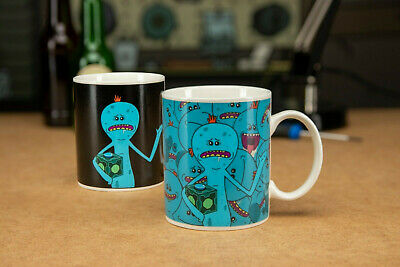 Official Rick and Morty Mr Meeseeks Heat Sensitive Colour Change Cup in Gift Box