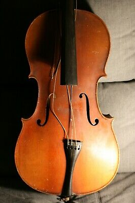 Violoncelle 3/4 ancien daté 1937 à Mons à restaurer - Old 3/4 20th century cello