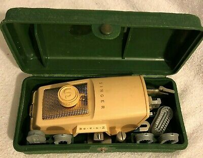Vintage Singer Hand Held Sewing Machine With Case