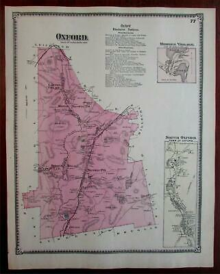 Oxford Hodges Village North Oxford 1870 Worcester Co. Mass. detailed map