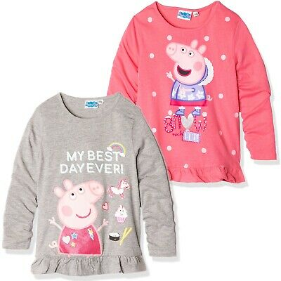 Original Peppa Pig Girls Baby Toddlers Long Sleeve Cotton Pyjamas Set 1-6 yrs