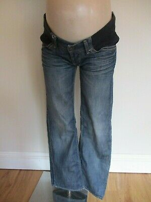 Topshop Mooch Maternity Blue Under Bump Distressed Slouch Jeans Size 10
