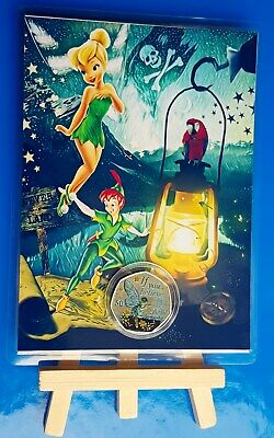 IOM PETER PAN TINKERBELL 50p COIN DISPLAY CARD EASEL SALE 🎄☃🎅✨