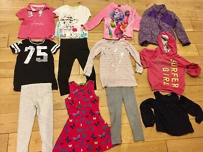 Girls 5-6 Years Bundle Joules Next Leggings Trolls Jumper Hoodie Floral Dress