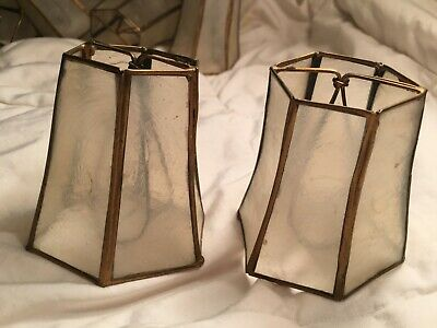 Capiz Shell Small Clip On Lamp Shade For Chandelier Bulb Lot