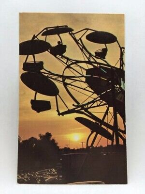 Postcard~York, Pa~York Interstate Fair~Amusement View~Sunset~Unposted